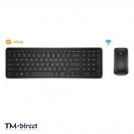 Dell KM714 USB Wireless Keyboard Mouse Kit 2.4GHz UK - Irish Laptop Desktop PC - 99 - T - 23160