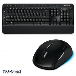 Microsoft Wireless Desktop 3000 Keyboard And Mouse Set USB 2.4GHz Blue Track New - 999999999999 - T - 47779