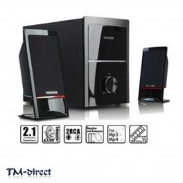 Microlab M700 Hi-Fi 2.1 Subwoofer Speaker System 40W RMS Bass Effect RCA Black - 999999999999 - T - 3702