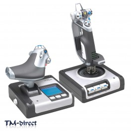 Saitek X52 Flight Control System Joystick and Throttle USB Wired 10 Buttons LCD - 999999999999 - T - 117042