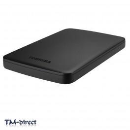 Toshiba 1TB Canvio Basics USB 3.0 2.5 inch Portable External Hard Drive Matte Black - 999999999999 - T - 131553