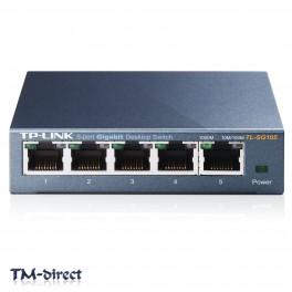TP-Link TL-SG105 Switch 5 Ports Unmanaged Desktop Gigabit Ethernet Network - 999999999999 - T - 51268