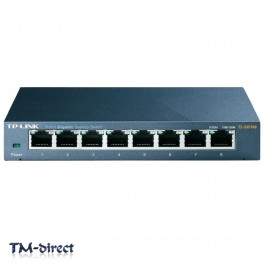 TP-LINK TL-SG108 8-Port Gigabit Ethernet Network Desktop Switch Steel Case - 999999999999 - T - 51268