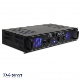 SPL 1000W Power Amplifier EQ Aux - Home Audio Hi-Fi Stereo DJ Disco Party PA Amp