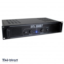 Skytec SPL-300BT Bluetooth Amplifier Wireless Stream Home Audio Hi-Fi Party 300W