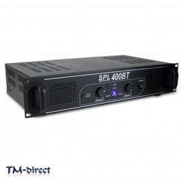 Skytec SPL-400BT Bluetooth Home Audio Amplifier House Party Hi-Fi DJ Amp 400W
