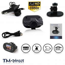 HD 1080P Small In Car DVR 12 LED Night Vision CCTV LCD Accident Camera Video Recorder