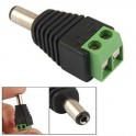 12V DC Male CCTV Video Camera Power Adapter Socket Jack Connector Screw