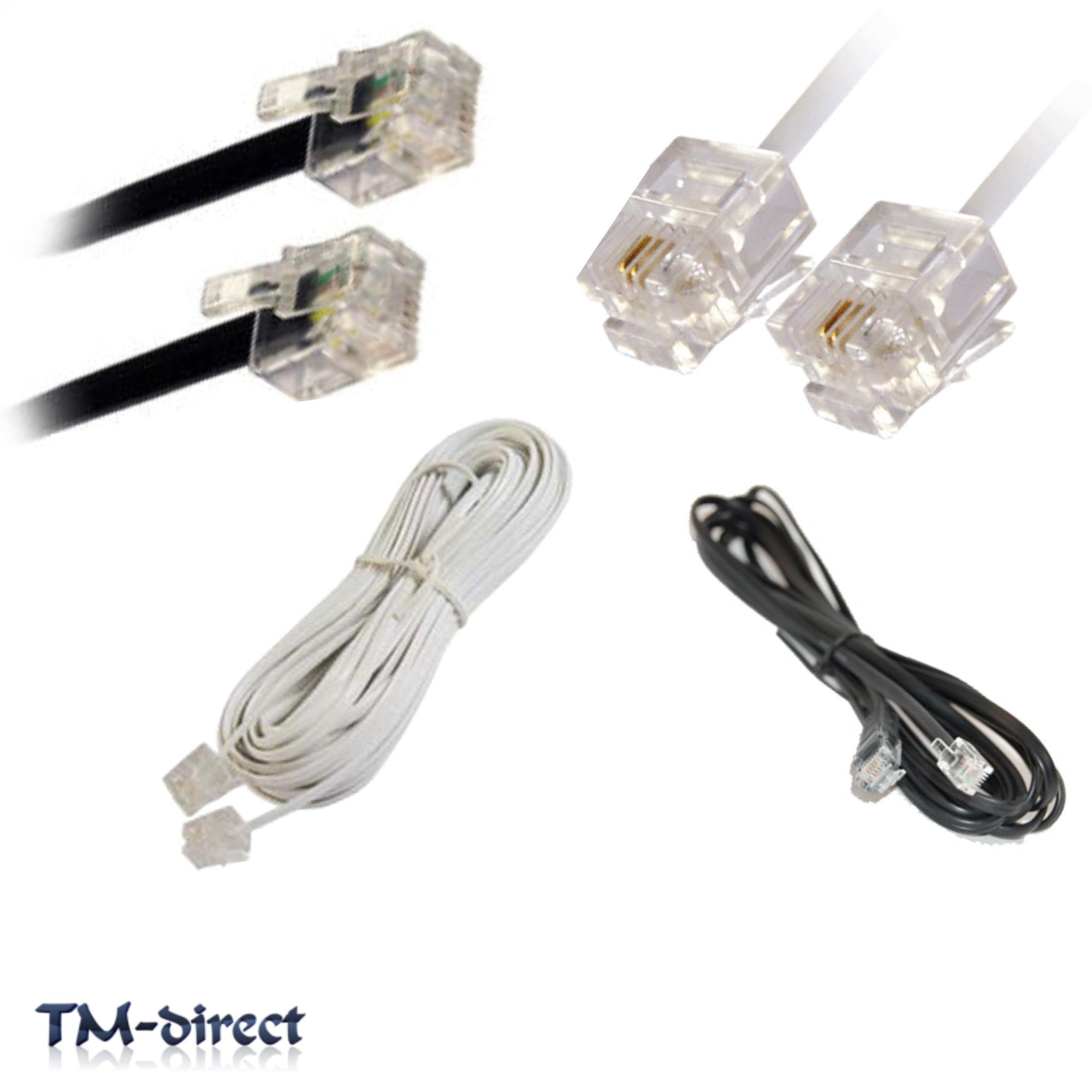 rj11 adsl adsl2 phone high speed broadband internet router cable plug. Black Bedroom Furniture Sets. Home Design Ideas