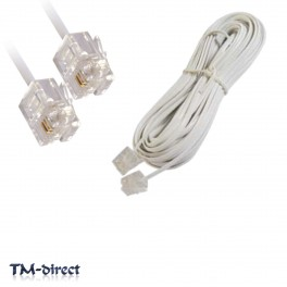 2M RJ11 White ADSL ADSL2+ High Speed Broadband Internet Modem Router Cable Lead