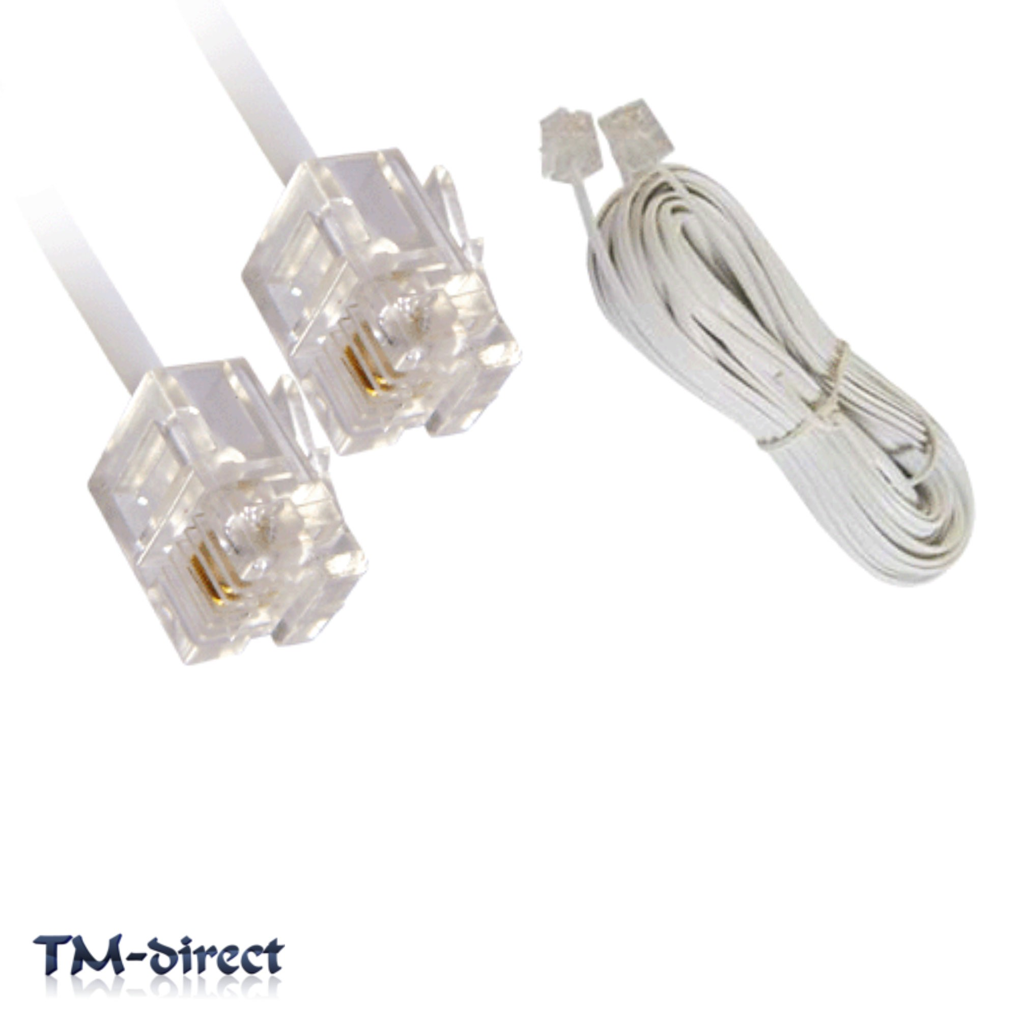 8m Rj11 White Adsl Adsl2 Broadband Internet Modem Router Cable Lead Wiring Diagram For 2m High Speed