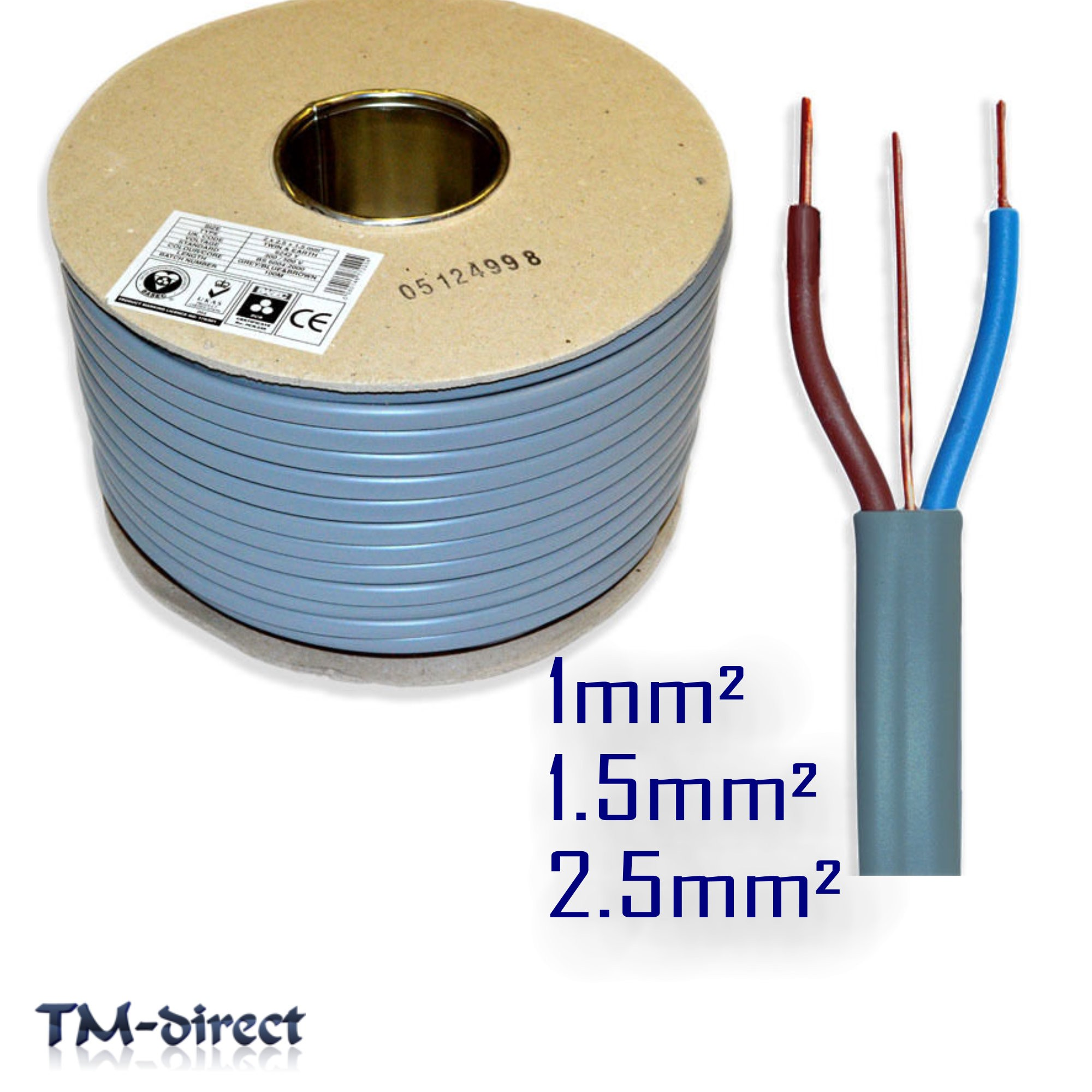 Twin and Earth T E Electric Cable 6242Y Wire for Lights Socket ...