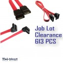 613 PCS Job Lot Clearance SATA Straight and Right Angled Cables