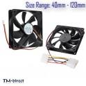 12v SATA IDE Molex Internal Quiet Cooling Coolant Fan For PC Computer CPU Case