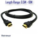 Premium HDMI Cable v1.4 Gold High Speed HDTV UltraHD HD 2160p 4K 3D 1M to 10 M