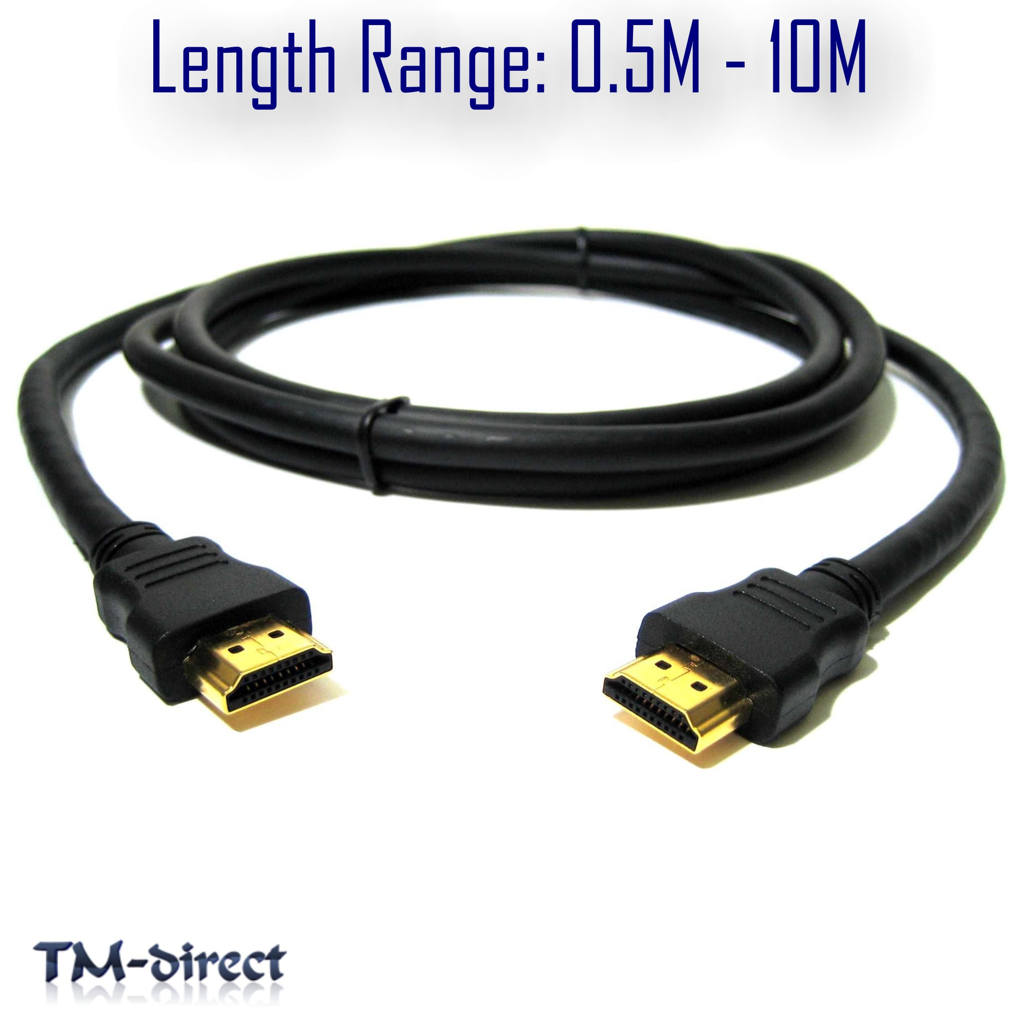 HDMI v1.4 High Speed 1080P 3D Video Lead Premium Cable For Sky HD ...