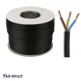 3183Y 3 Core 15 AMP Round Orange Mains Electrical Cable Flex Wire BY THE METER - 999999999999 - T - 147804