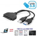 USB 3.0 to SATA 22Pin Data Power Cable Adapter For HDD 2.5 inch Hard Disk Driver