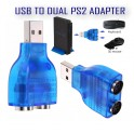 USB Male To Dual PS2 PS2 Female Splitter Converter Mouse Keyboard Adapter New