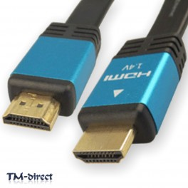 5M HDMI v1.4a Ethernet High Speed 1080p 3D Video Blue Cable For Sky HD TV Lead - 151155171341 - T - 32834