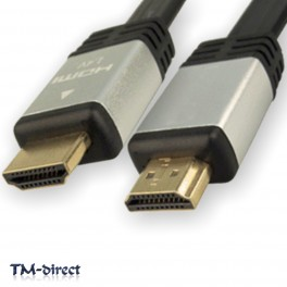 2M HDMI v1.4a High Speed 1080p 3D Video Silver Cable For PS3 XBox HD TV Monitor - 151155211529 - T - 32834