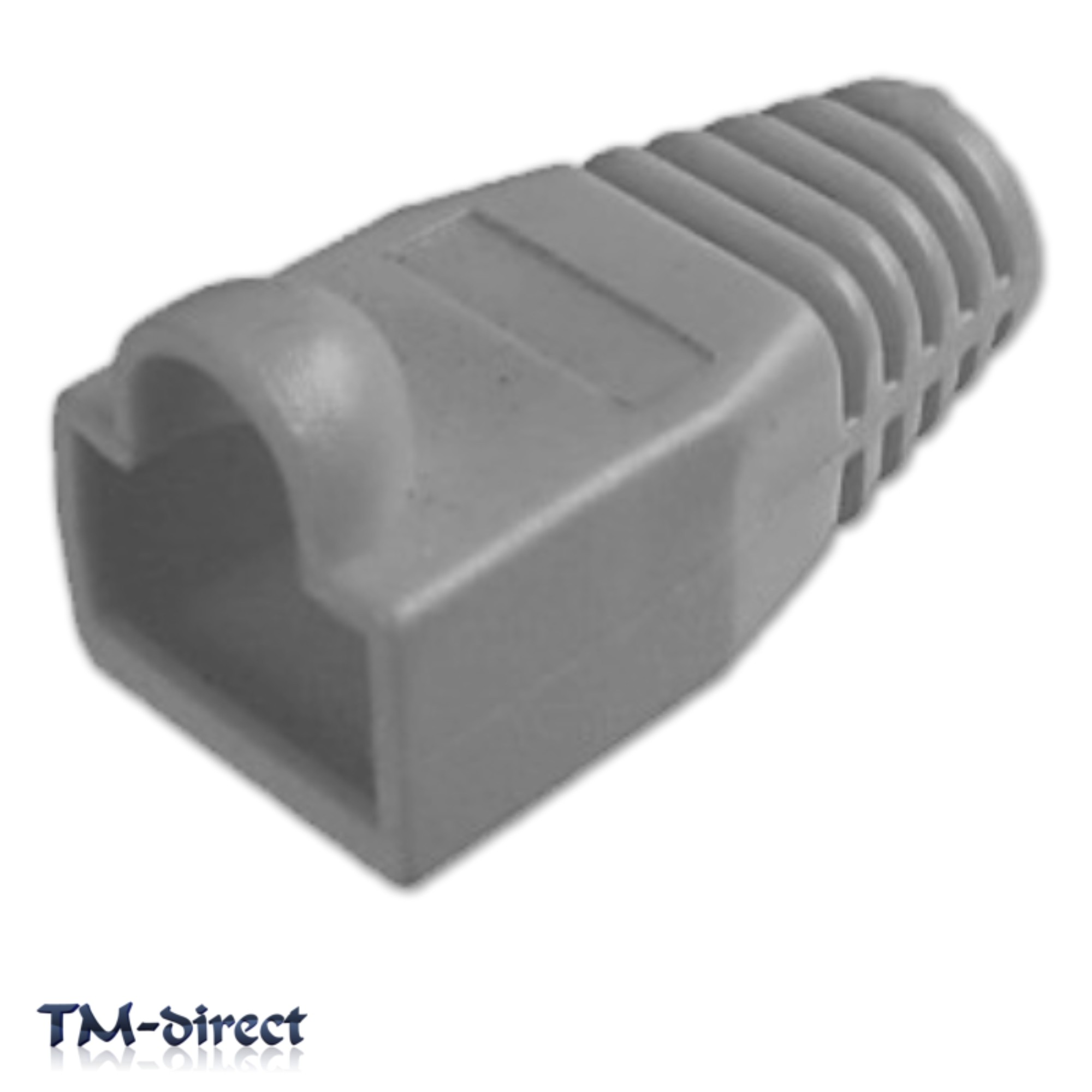 10x Ethernet Cable Cat5 Cat6 Rj45 Modular Net Plug 8p8c Connector Wiring Boot Grey 150580279019 T 3668