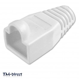 10X Ethernet Cable CAT5 CAT6 RJ45 Connector Boot White - 150681039377 - T - 3668
