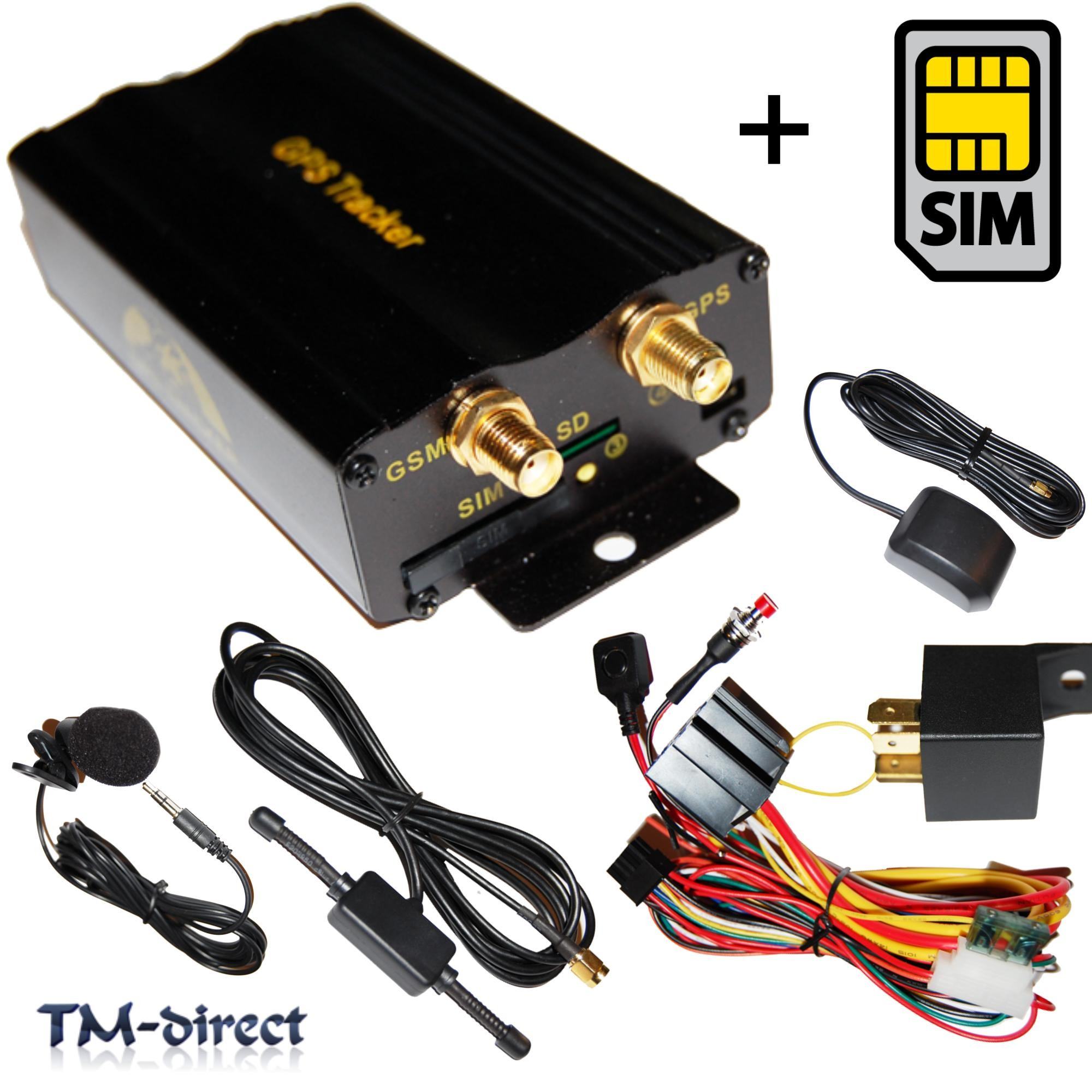 Gps Car Tracker Tk 103b Realtime Gsm Track Spy Tracking