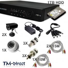 1X Doom 2X Bullet Camera 2X 15M 1X 8M Cam Cables and PCU Connectors -  - T - 66738